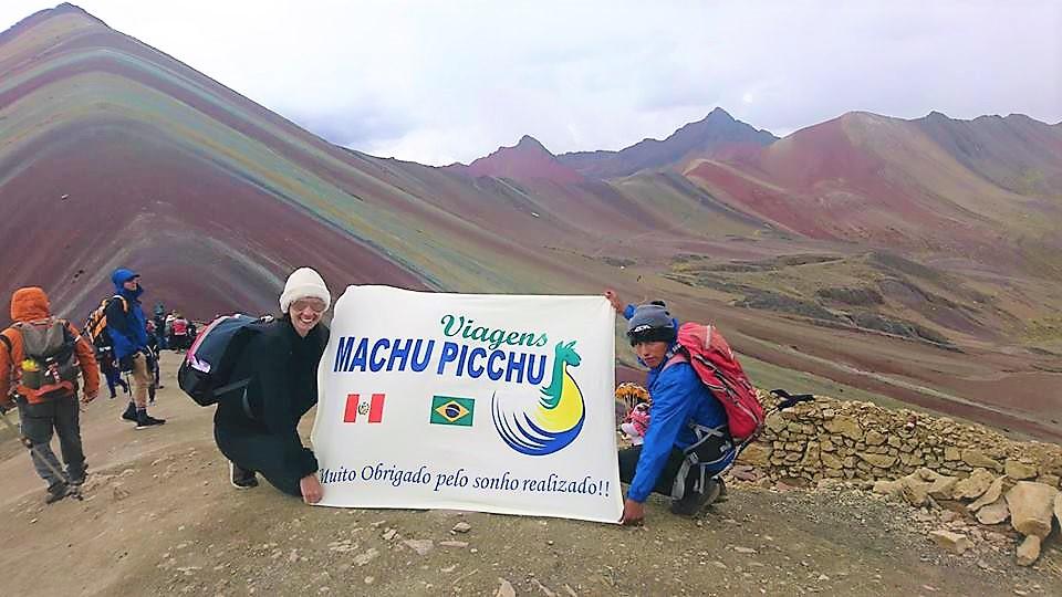 Montanha Arco Iris Rainbow Mountain em Cusco