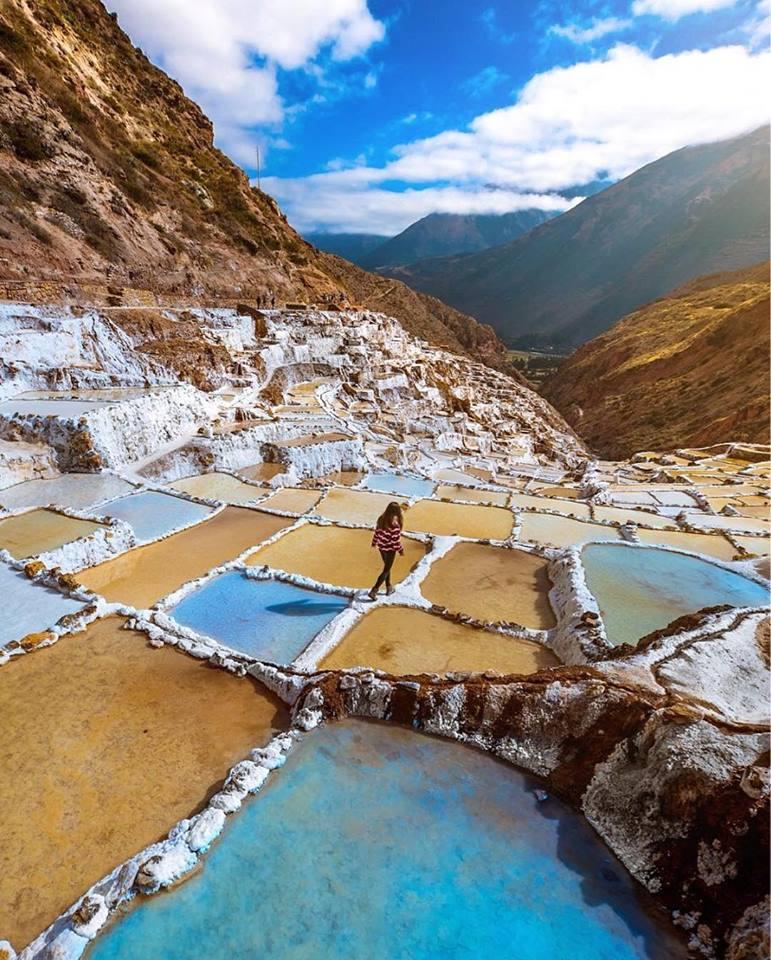 Salineiras de Maras - o sal que brota do Peru